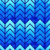抽象无缝的几何水彩V形臂章 库存图片