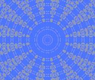 抽象无缝的同心装饰品灰色蓝色 向量例证