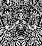 抽象无缝的向量墙纸 库存图片