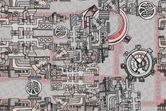 抽象无缝的工业工厂背景 免版税库存图片