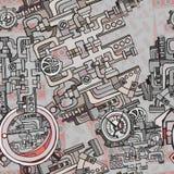 抽象无缝的工业工厂背景 免版税图库摄影