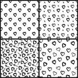 抽象无缝的心脏样式集合 皇族释放例证