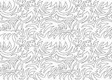 抽象无缝的有机样式 也corel凹道例证向量 免版税库存照片