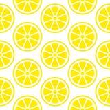 抽象无缝的样式柠檬切黄色正方形 皇族释放例证