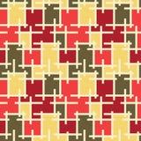 抽象无缝的样式马赛克背景 免版税图库摄影