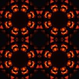 抽象无缝的样式,火热的星 免版税库存图片