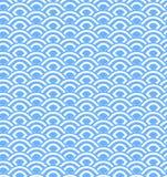 抽象无缝的波浪镶边样式,重复纹理瓦片 免版税库存照片