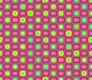 抽象无缝的灰色背景桃红色开花和黄色正方形 皇族释放例证