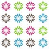 抽象无缝的生动的色的花卉样式背景 免版税库存图片