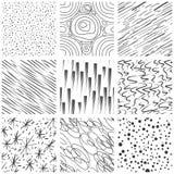 抽象无缝的纹理样式 简单的被排行的和泼溅物油漆飞溅黑下落传染媒介样式集合 图库摄影