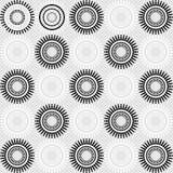 抽象无缝的艺术装饰传染媒介样式 皇族释放例证