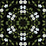 抽象无缝的花卉样式 免版税库存图片