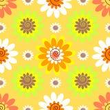 抽象无缝的花卉淡色模式 库存照片