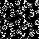 抽象无缝的花背景 库存图片