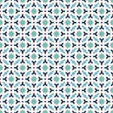 抽象无缝的装饰几何蓝色&绿色样式背景 库存图片