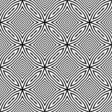 抽象无缝的装饰几何轻的黑&白色样式背景 图库摄影