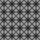 抽象无缝的装饰几何轻的黑&白色样式背景 免版税库存图片