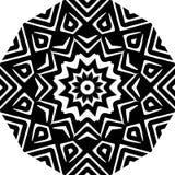 抽象无缝的装饰几何轻的黑&白色样式背景 库存照片