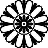 抽象无缝的装饰几何轻的黑&白色样式背景 免版税库存照片