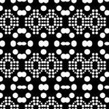 抽象无缝的装饰几何轻的黑&白色样式背景 库存图片