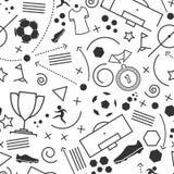 抽象无缝的足球墙纸样式 库存图片
