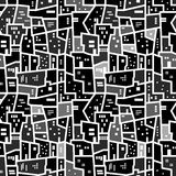 抽象无缝的都市样式 库存照片