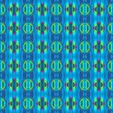 抽象无缝的金刚石样式蓝绿色洋红色 库存例证