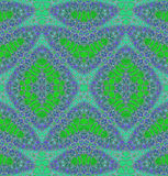 抽象无缝的金刚石样式绿色紫色 库存照片