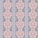 抽象无缝的镶边华丽样式 与条纹的无缝的装饰背景 库存例证