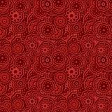 抽象无缝的风格化花纹花样-导航花卉墙纸图表 库存例证