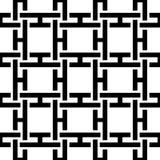 抽象无缝的黑白模式 库存图片