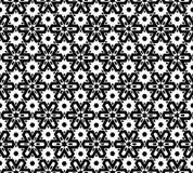 抽象无缝的黑白模式 图库摄影