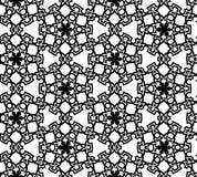抽象无缝的黑白模式 免版税库存照片