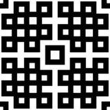 抽象无缝的黑白模式 库存照片