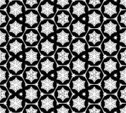 抽象无缝的黑白模式 免版税图库摄影