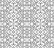 抽象无缝的黑白模式 免版税库存图片