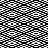 抽象无缝的黑白样式-传染媒介例证 免版税库存图片