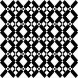 抽象无缝的黑白样式-传染媒介例证 免版税库存照片