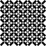 抽象无缝的黑白样式-例证 库存照片