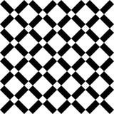 抽象无缝的黑白样式-例证 免版税库存图片
