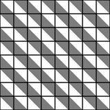 抽象无缝的黑白样式-例证 免版税图库摄影
