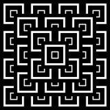 抽象无缝的黑白艺术装饰传染媒介啪答声 库存照片