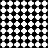 抽象无缝的黑白艺术装饰传染媒介样式 免版税库存照片