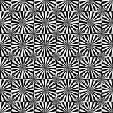 抽象无缝的黑白艺术装饰传染媒介样式 免版税图库摄影