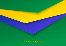 抽象无缝的巴西背景 库存照片