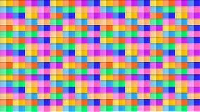 抽象无缝的3D样式背景,五颜六色的背景,明亮的颜色立方体,纸艺术 库存例证