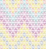 抽象无缝的V形臂章彩虹色样式 库存图片