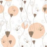抽象无缝蝴蝶花卉的模式 库存图片