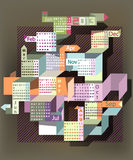 抽象日历2013年 免版税图库摄影