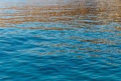抽象日落波纹在海洋 免版税库存照片